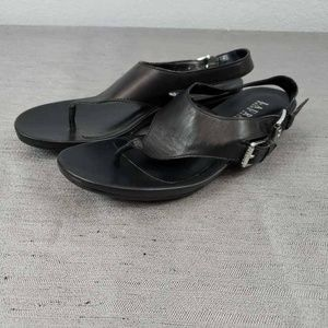 LRL Ralph Lauren Womens Kacy Thong Sandals Black